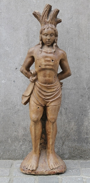 16th C. Saint Sebastian sculptire