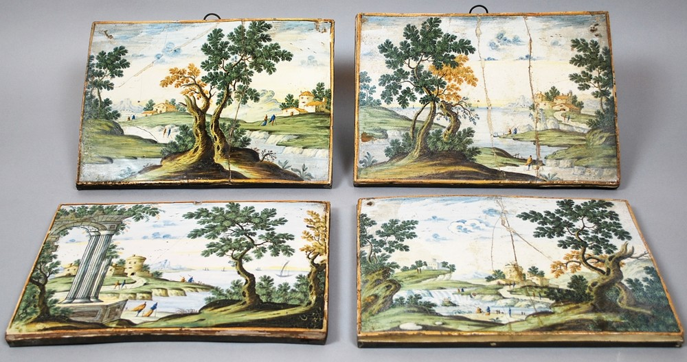 17th century earthenware plates