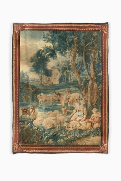 18th C. Brussels Tapestry Signed P. Van Den Hecke
