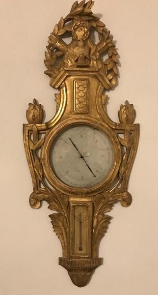 18th C. Louis XVI Barometer In GiltWood