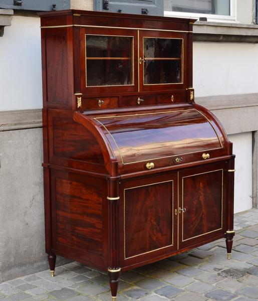 18th C. Louis XVI Period Rolltop Writing Desk