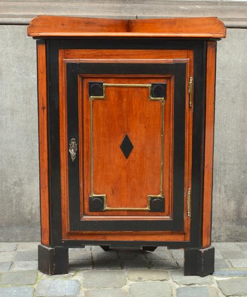 18th C. Walnut Corner Cabinet in the French Directoire Style