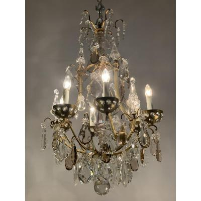 1940's  Maison Bagues chandelier with pendants