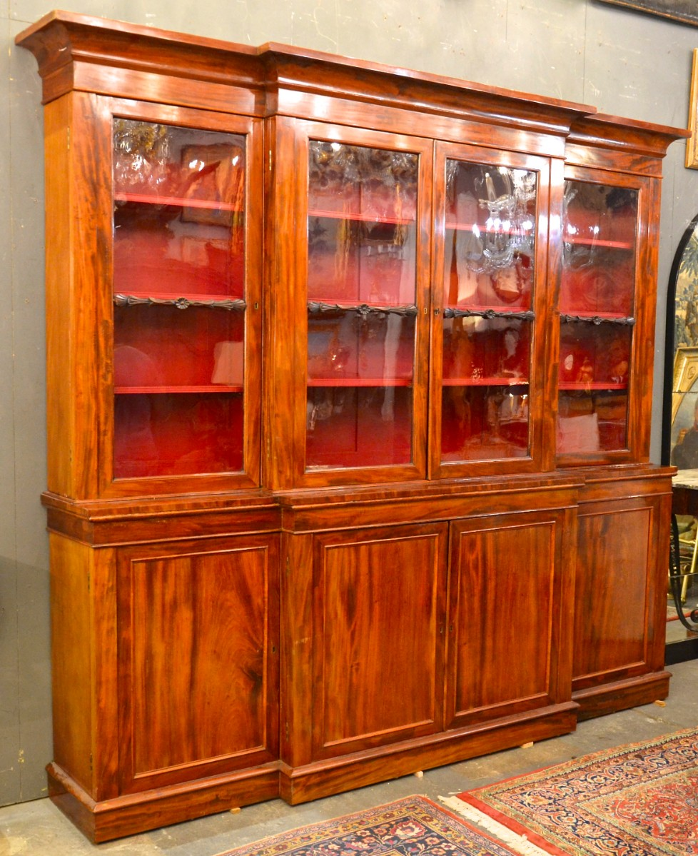 19th C English Mahogany Bookcase Bookcases Items By
