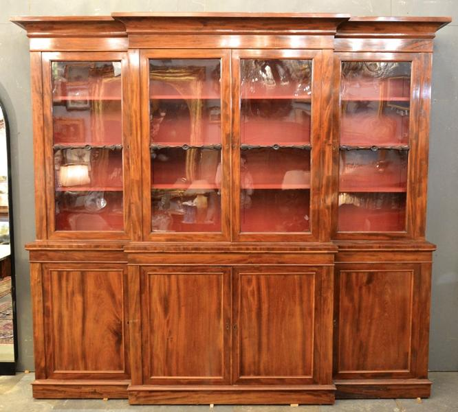 19th C. English Mahogany Bookcase