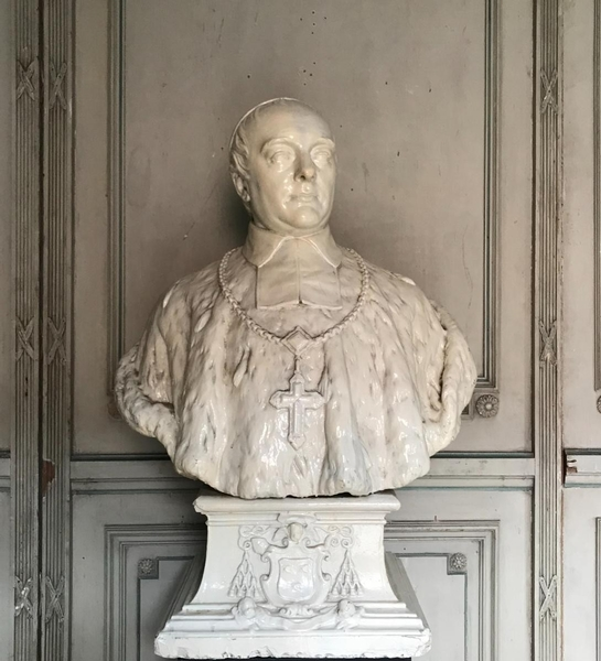 19th C. plaster prelate bust