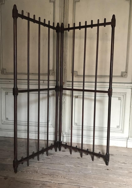 19th C. turned wood screen
