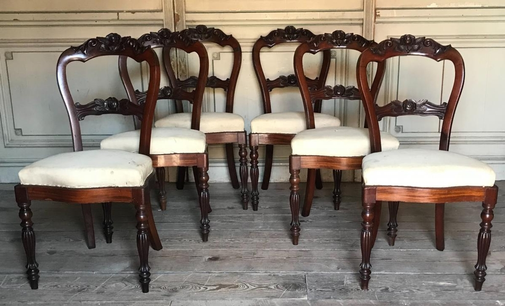 6 Louis Philippe Mahogany chairs