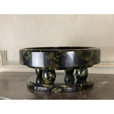 Art deco noble serpentine marble cup