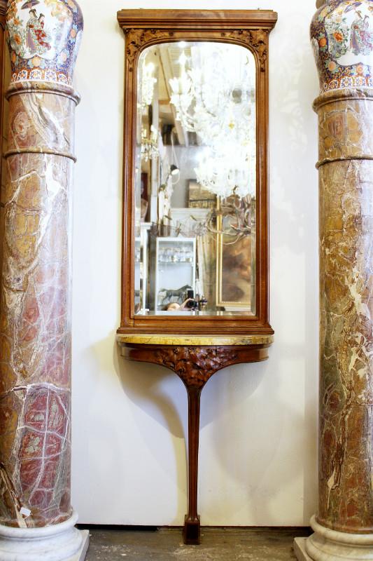 art nouveau console mirror tables gu ridons consoles furniture galerie des minimes. Black Bedroom Furniture Sets. Home Design Ideas