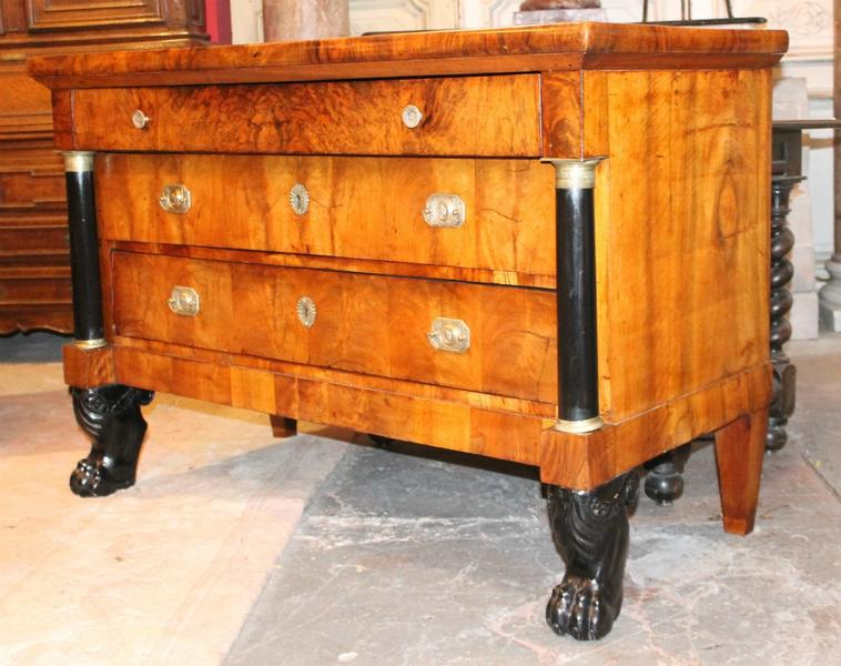 Biedermeier walnut chest, 19c