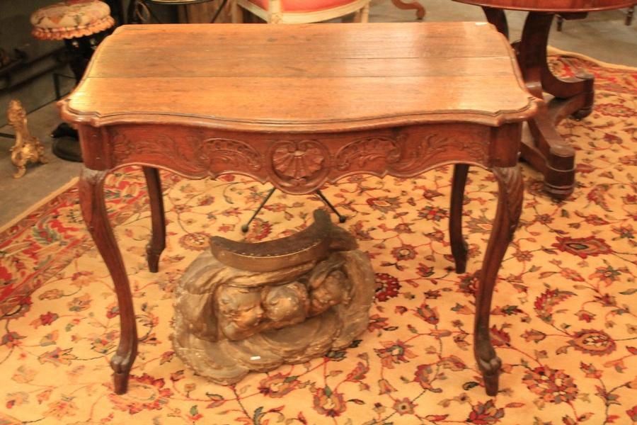 carved oak console-table - 18th C.