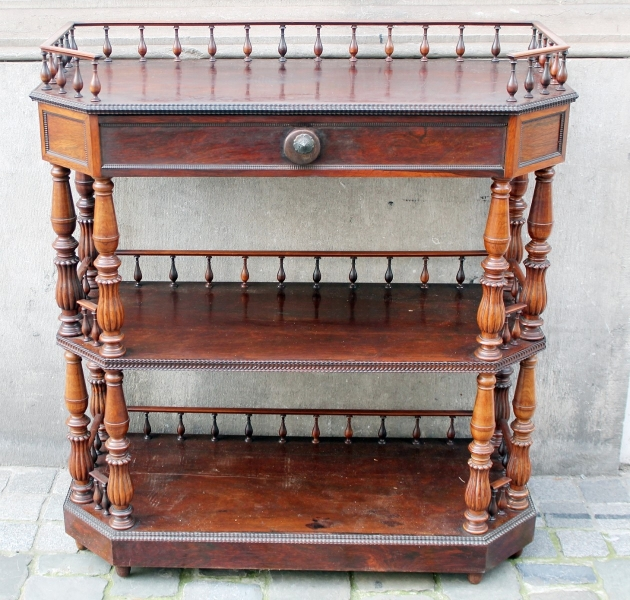 Console shelf with drawer, rosewood, 19th.c