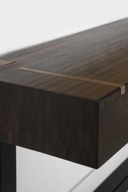 Console table - top in Wenge end-grain wood - Tables ...