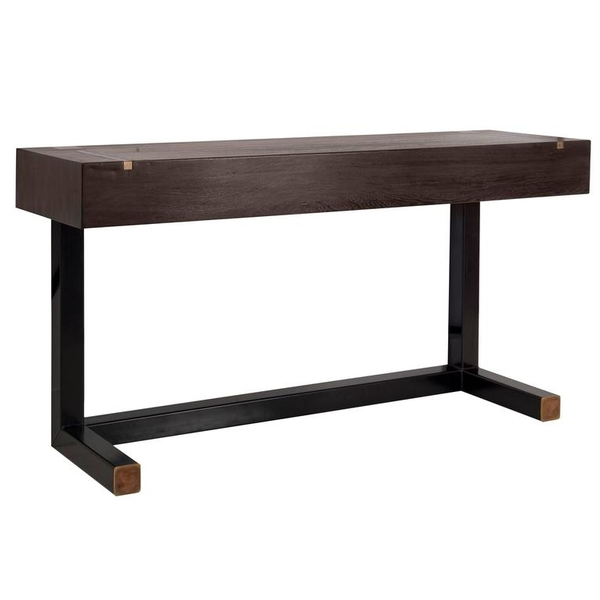Console table - top in Wenge end-grain wood