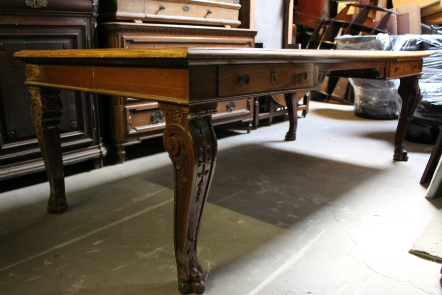 Desk in mahogany in the style of the French Restauration Circa 1900