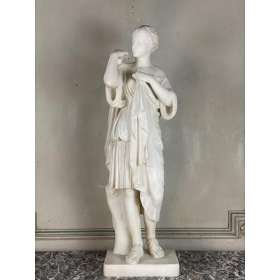 Diane of Gabbies, 19th C. marble after the antique