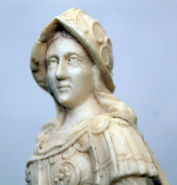 Early 18th C. german carved ivory Minerva