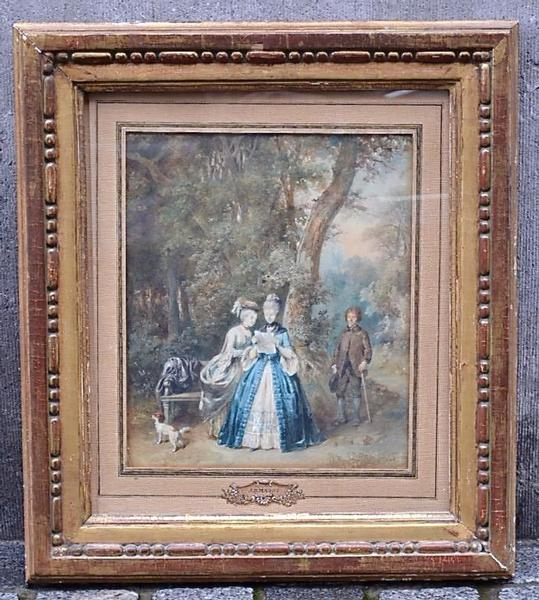 Early 19th  C. Pastel by Belgian Painter Jean-Baptiste Madou