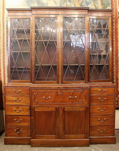 English bookcase, 19th c.