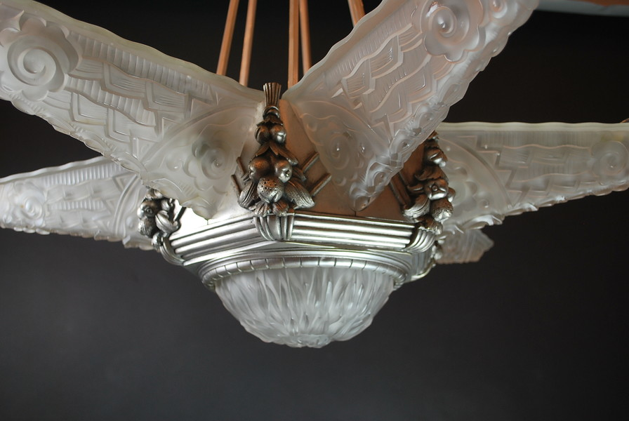 Exceptional Art Deco chandelier