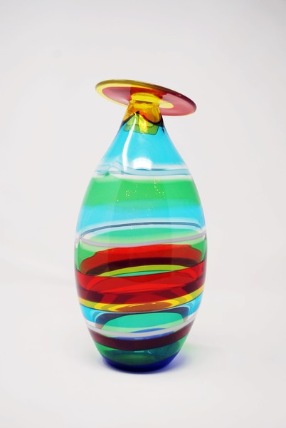 Fascie laterale, La Murrina, Murano glass vase, attributed to Gianmaria Potenza