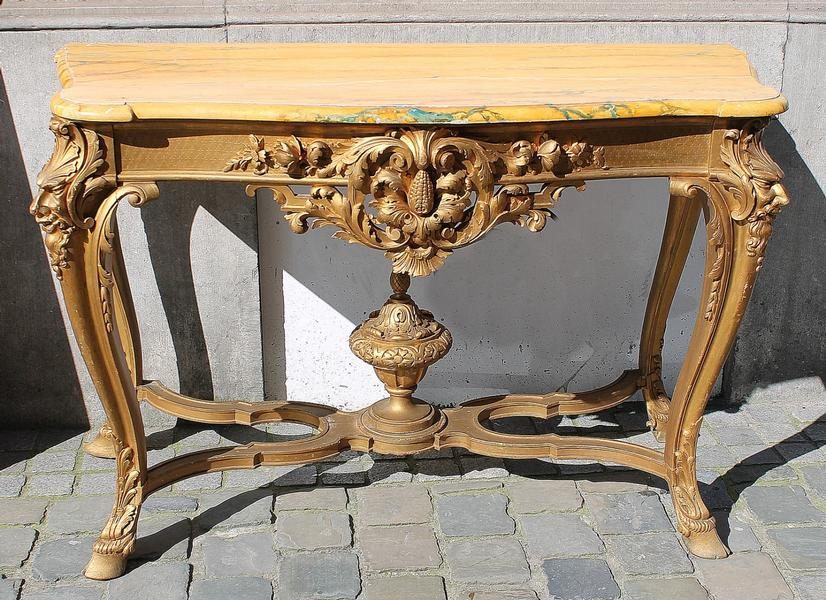 French console in painted wood, late 19th.C