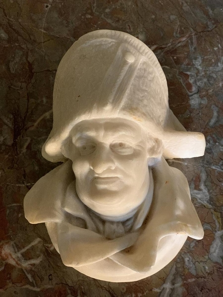 Head of a man, 19th C. marble sculpture