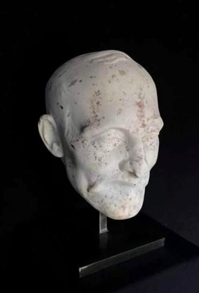 Head Sculpture in Carrara Marble