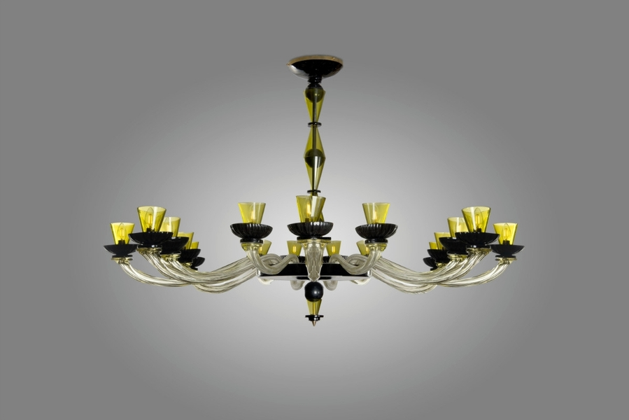 Large Cenedese Murano Glass Chandelier - Late 20th C.