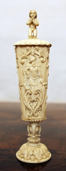 Late 17th C. carved ivory cup