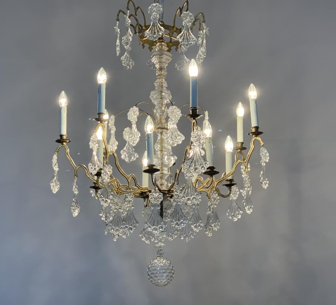 Late 18th C. bronze chandelier