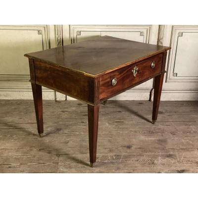 Late 18th C. mahogany and brass dutch flat desk