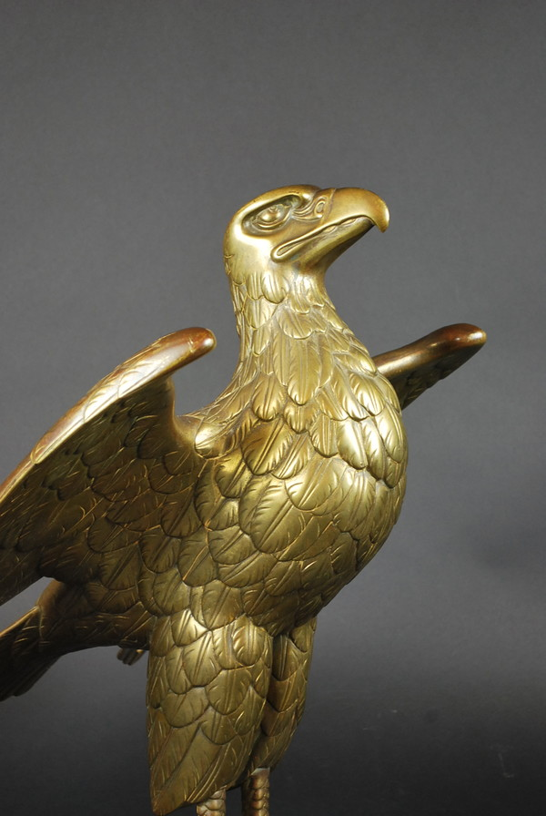 Lectern in gilded bronze forming an eagle