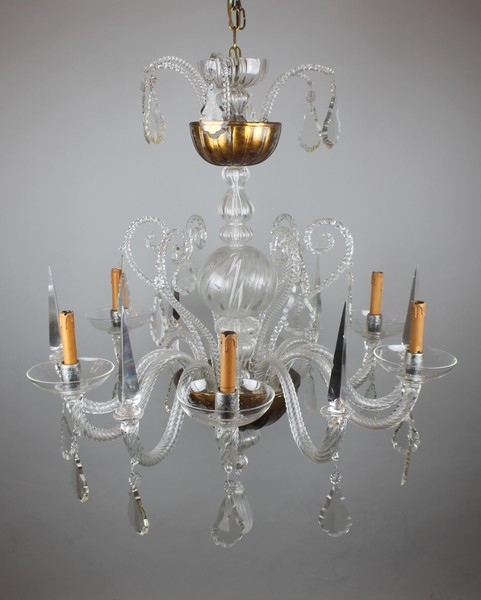 Liégeois chandelier with 6 lights