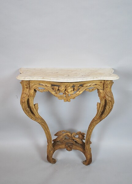 Louis XV console and its marble