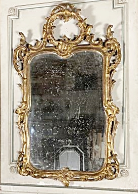 Louis XV Style Carved Wood Mirror, 19th.c