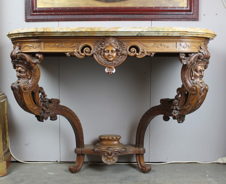 Louis XV style console, attributed to Fourdinois