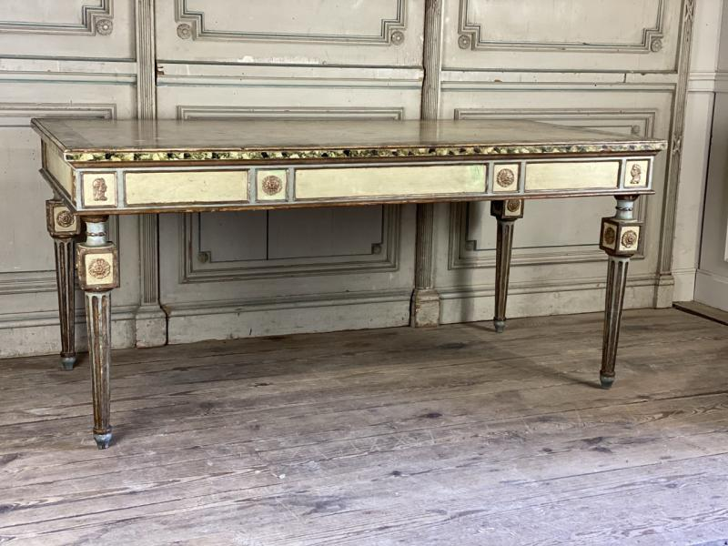 Louis XVI style polychromed table