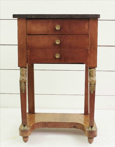 mahogany Empire side table - C. 1900