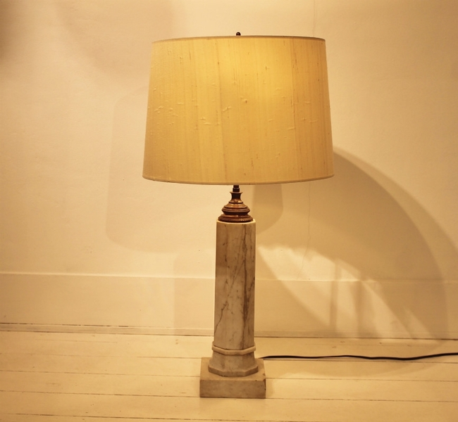 Marble table lamp by Vlug
