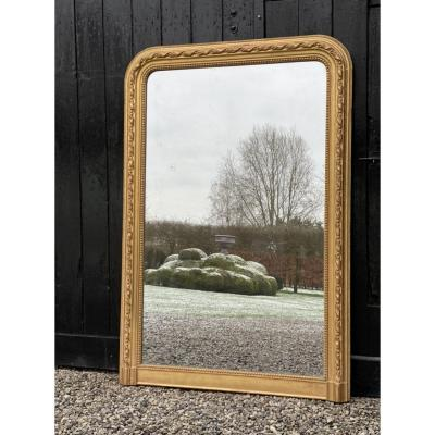 Mercury Mirror, Stuccoed And Gilded Wood Frame XIXth Century
