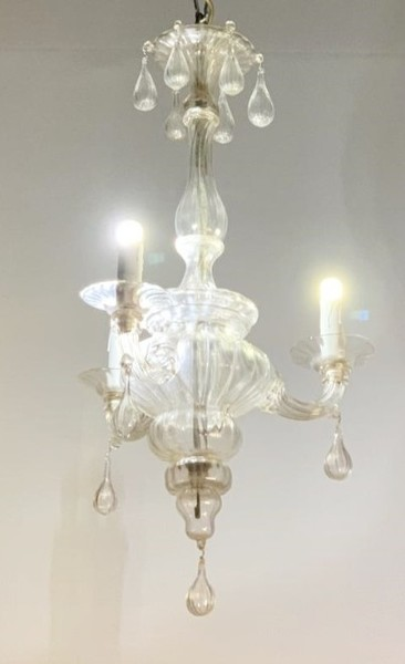 Murano glass lantern, 3 light arms