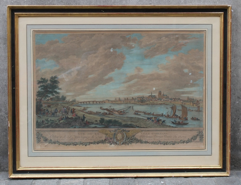 Orleans dock's view, 18th C. print