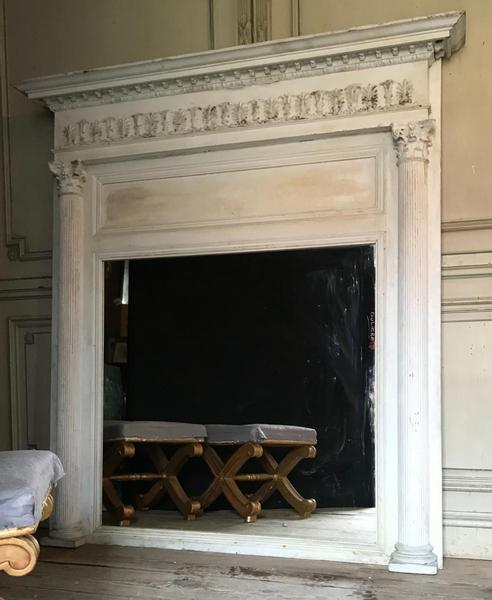 Overmantel mirror 19th.C