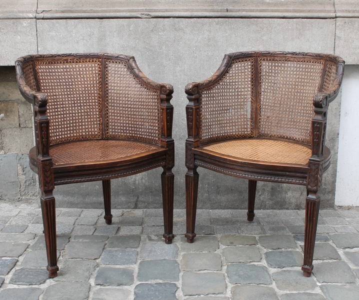 Pair of 19th C. Louis XVI style chairs