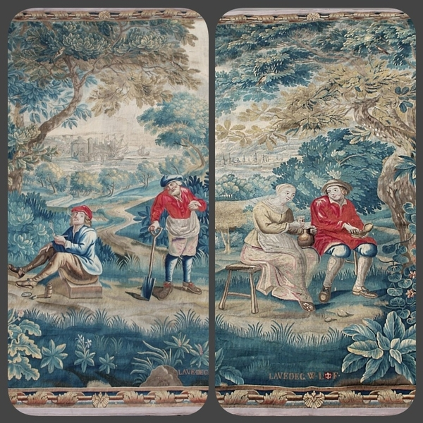 Pair of Guillaume Werniers tapestries, Lille, early 18th C.