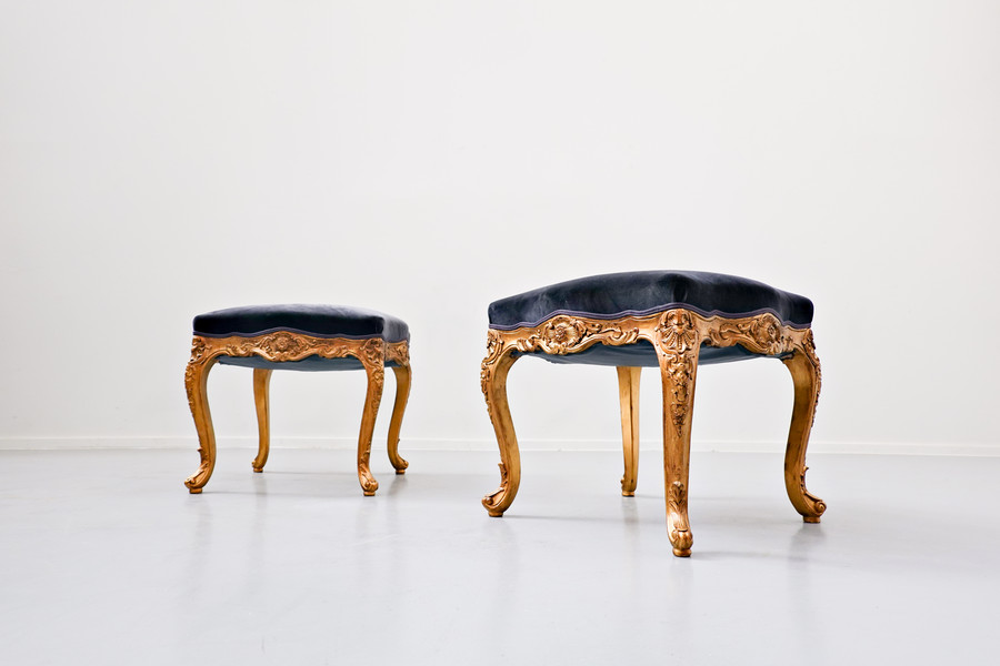 Pair of Louis XV style stools