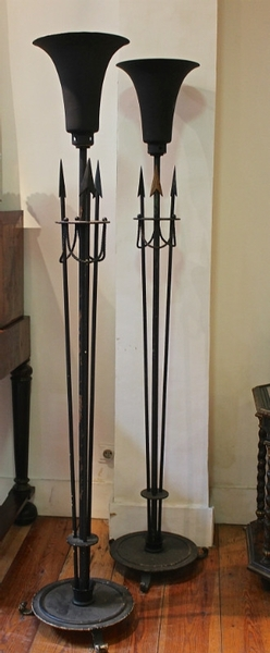Pair of Neo Classical floor lamps - C. 1940