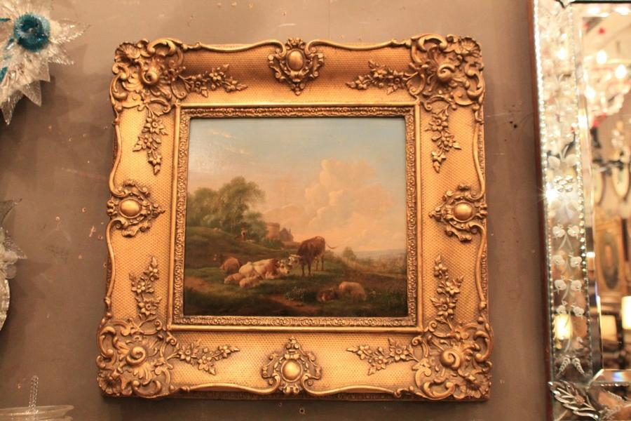 Pair of paintings, B. P. Ommeganck